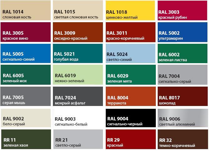 Пример полимерных красок