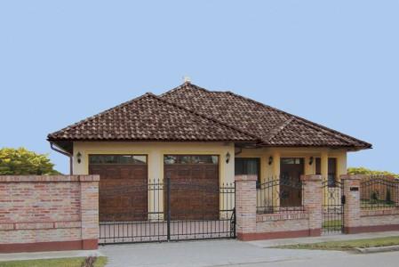 Сочетание крыши дома и крыши гаража