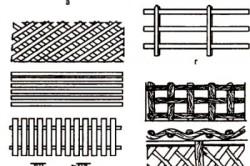 Пример 1. Формы декоративных деревянных заборов.