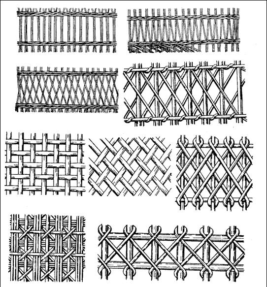 Виды плетения забора из лозы
