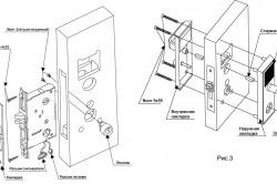 Схема устройства врезного замка