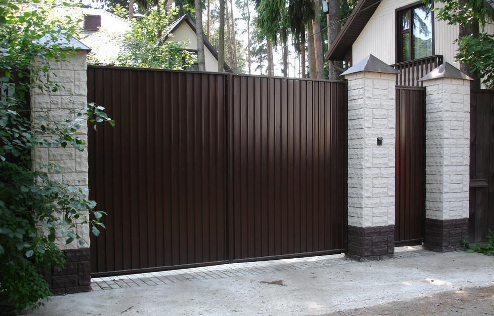 ворота из профиля фото