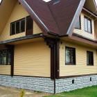 дом с профнастилом