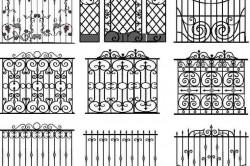 Орнаменты для кованых заборов