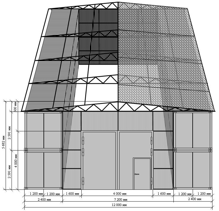Схема расчетов ангара