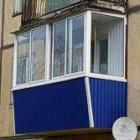 Балкон обшитый профнастилом