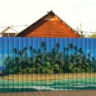 Рисунки на заборе из профлиста