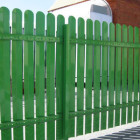 Забор из металлического штакентника