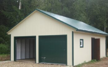 Крыша гаража из профнастила своими руками